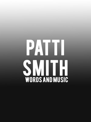 Patti Smith Words and Music, Minetta Lane Theater, New York