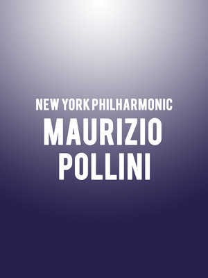 New York Philharmonic - Maurizio Pollini Poster