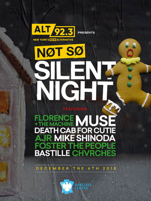 Not So Silent Night - Muse, Florence and the Machine, Death Cab For Cutie Poster
