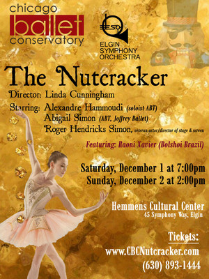 Chicago Ballet Conservatory - The Nutcracker Poster