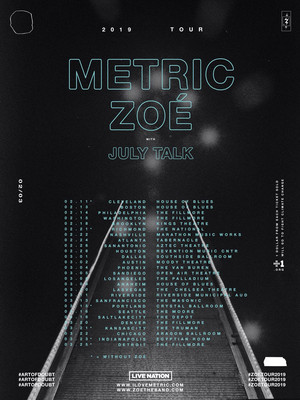 Metric and Zoe, Riverside Municipal Auditorium, San Bernardino