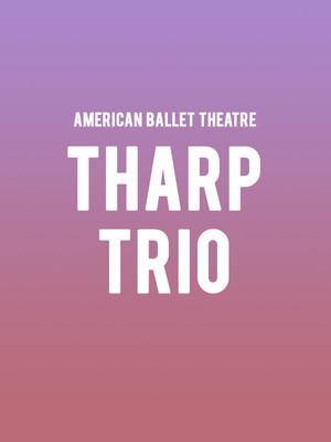 American Ballet Theatre Tharp Trio, Metropolitan Opera House, New York