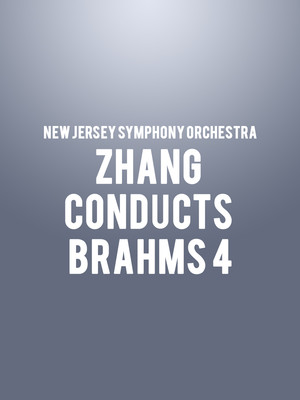 New Jersey Symphony Orchestra - Zhang Conducts Brahms 4 at Prudential Hall