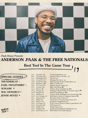 Anderson .Paak at Bill Graham Civic Auditorium