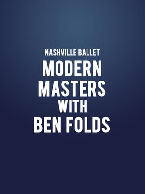 Nashville Ballet Modern Masters, Andrew Jackson Hall, Nashville