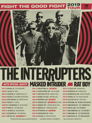 The Interrupters at Burton Cummings Theatre