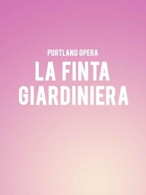 Portland Opera - La Finta Giardiniera at Newmark Theatre