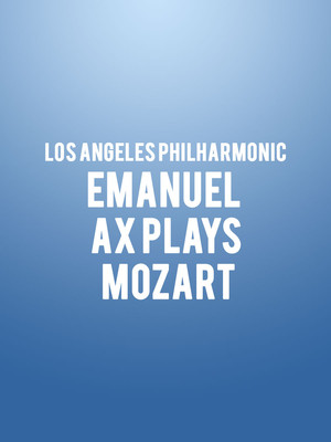 Los Angeles Philharmonic Emanuel Ax Plays Mozart, Walt Disney Concert Hall, Los Angeles