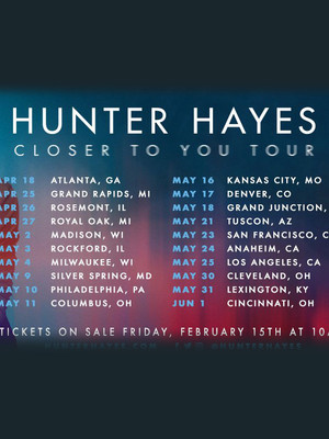 Hunter Hayes, Bogarts, Cincinnati