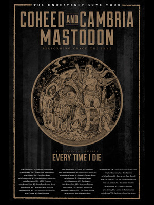 Coheed and Cambria with Mastodon and Every Time I Die Poster