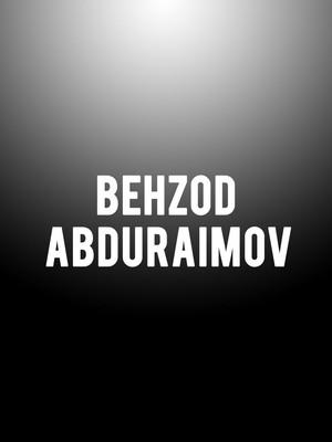 Behzod Abduraimov at Isaac Stern Auditorium