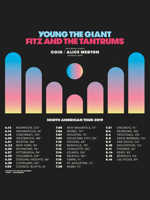 Young The Giant and Fitz and The Tantrums at Downtown Las Vegas Events Center