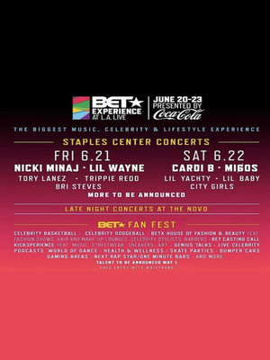 BET Experience Saturday Cardi B Migos Lil Yachty Lil Baby, Staples Center, Los Angeles