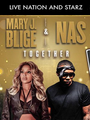 Mary J Blige and Nas at DTE Energy Music Center