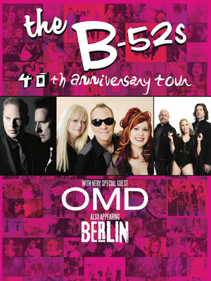 B 52s with OMD and Berlin, Mountain Winery, San Jose