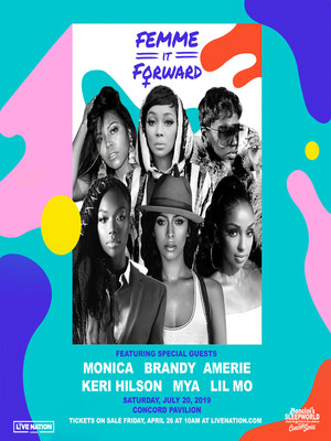 Femme It Forward Tour Monica Brandy Mya Keri Hilson, Pavilion at the Music Factory, Dallas