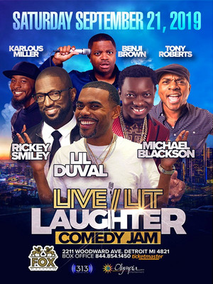 Live, Lit and Laughter Comedy Jam Poster
