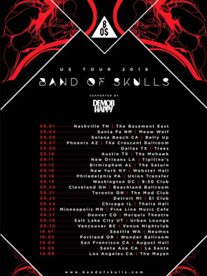 Band of Skulls, Vinyl Music Hall, Pensacola