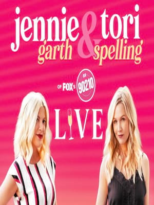 Jennie Garth and Tori Spelling Live at Chevalier Theatre