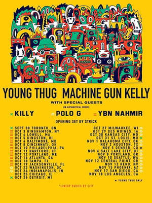 Machine Gun Kelly and Young Thug at Comerica Theatre