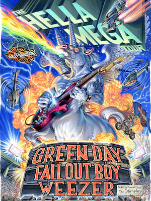 Green Day with Fall Out Boy and Weezer Poster