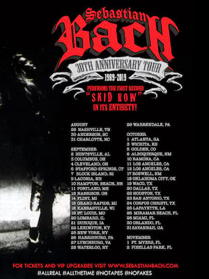 Sebastian Bach at Harpos Concert Theater