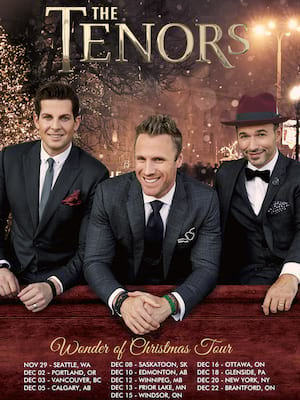 The Tenors Wonder of Christmas at Northern Alberta Jubilee Auditorium