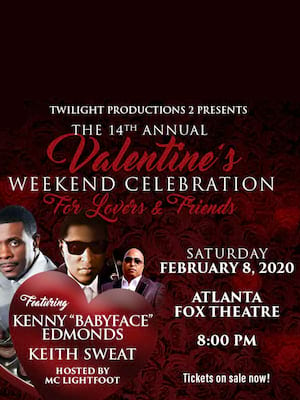 Valentines Weekend Celebration with Babyface Poster