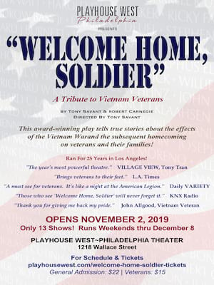 Welcome Home, Soldier at Playhouse West