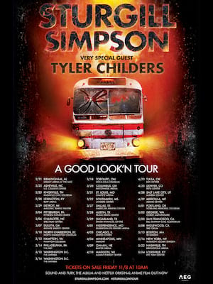 Sturgill Simpson With Tyler Childers, Legacy Arena at The BJCC, Birmingham