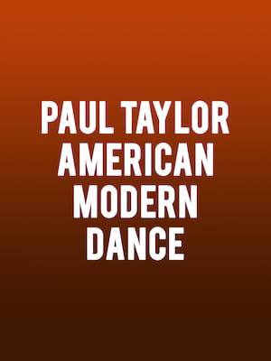 Paul Taylor American Modern Dance Poster