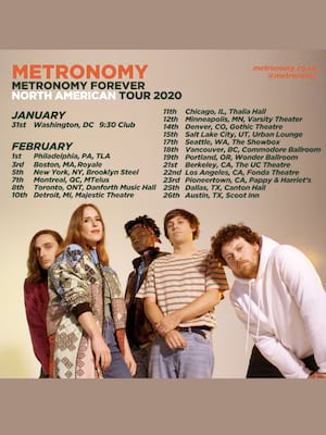 Metronomy, Showbox Theater, Seattle