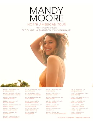 Mandy Moore, Durham Performing Arts Center, Durham