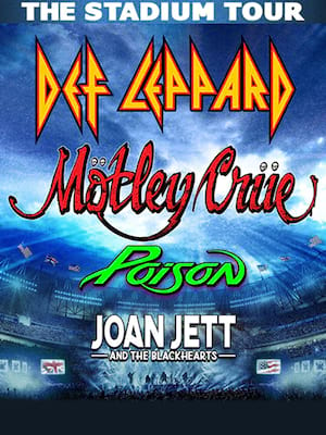 Motley Crue and Def Leppard with Poison Poster