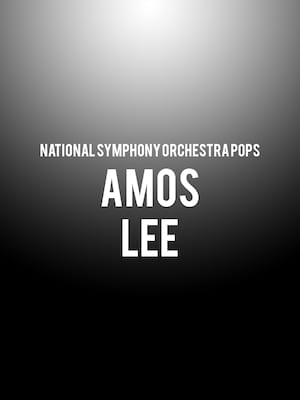 National Symphony Orchestra Pops - Amos Lee Poster