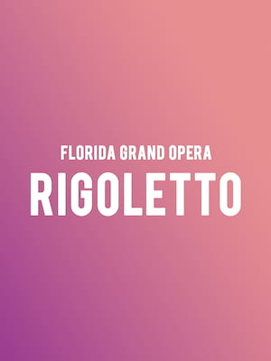 Florida Grand Opera Rigoletto, Au Rene Theater, Fort Lauderdale