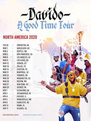 Davido, House of Blues, Dallas