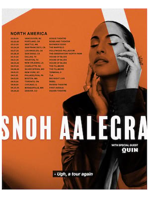 Snoh Aalegra, House of Blues, New Orleans