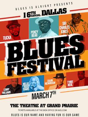 Dallas Blues Festival Poster