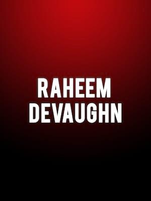 Raheem Devaughn Poster
