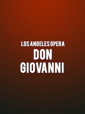 Los Angeles Opera - Don Giovanni Poster