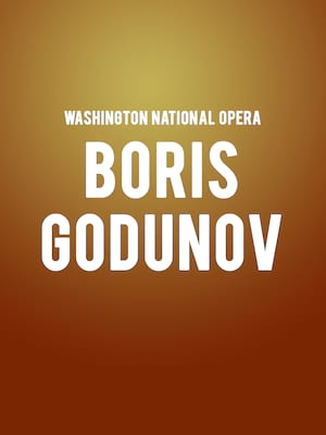 Washington National Opera - Boris Godunov Poster