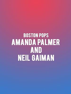 Boston Pops - Amanda Palmer and Neil Gaiman at Boston Symphony Hall