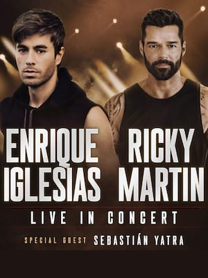 Enrique Iglesias and Ricky Martin at Toyota Center