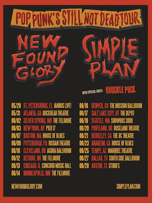 New Found Glory and Simple Plan, Marquee Theatre, Tempe