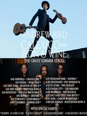 Andrew Bird with Calexico and Iron and Wine Poster