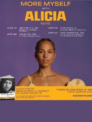 Alicia Keys: More Myself Book Tour Poster