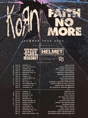 Korn and Faith No More at Hollywood Casino Amphitheatre Chicago