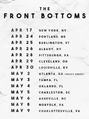 The Front Bottoms, Hard Rock Live, Orlando