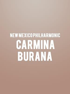 New Mexico Philharmonic - Carmina Burana at Popejoy Hall